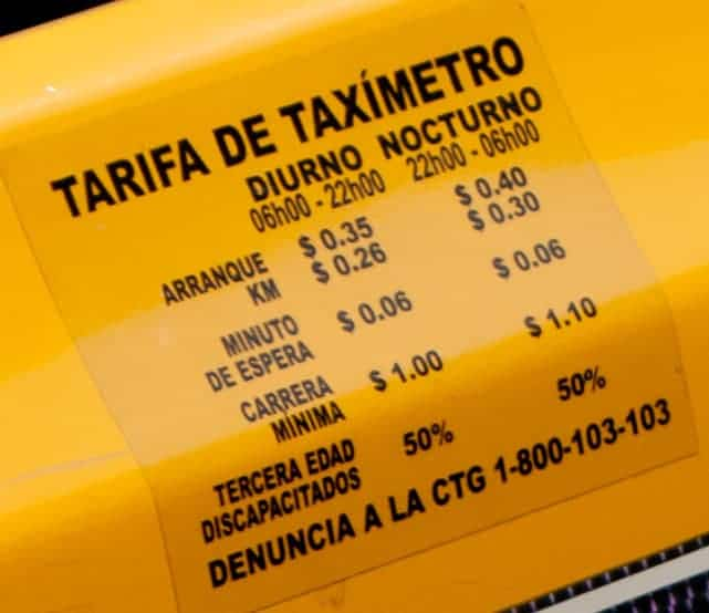 Guayaquil Taxi Rate