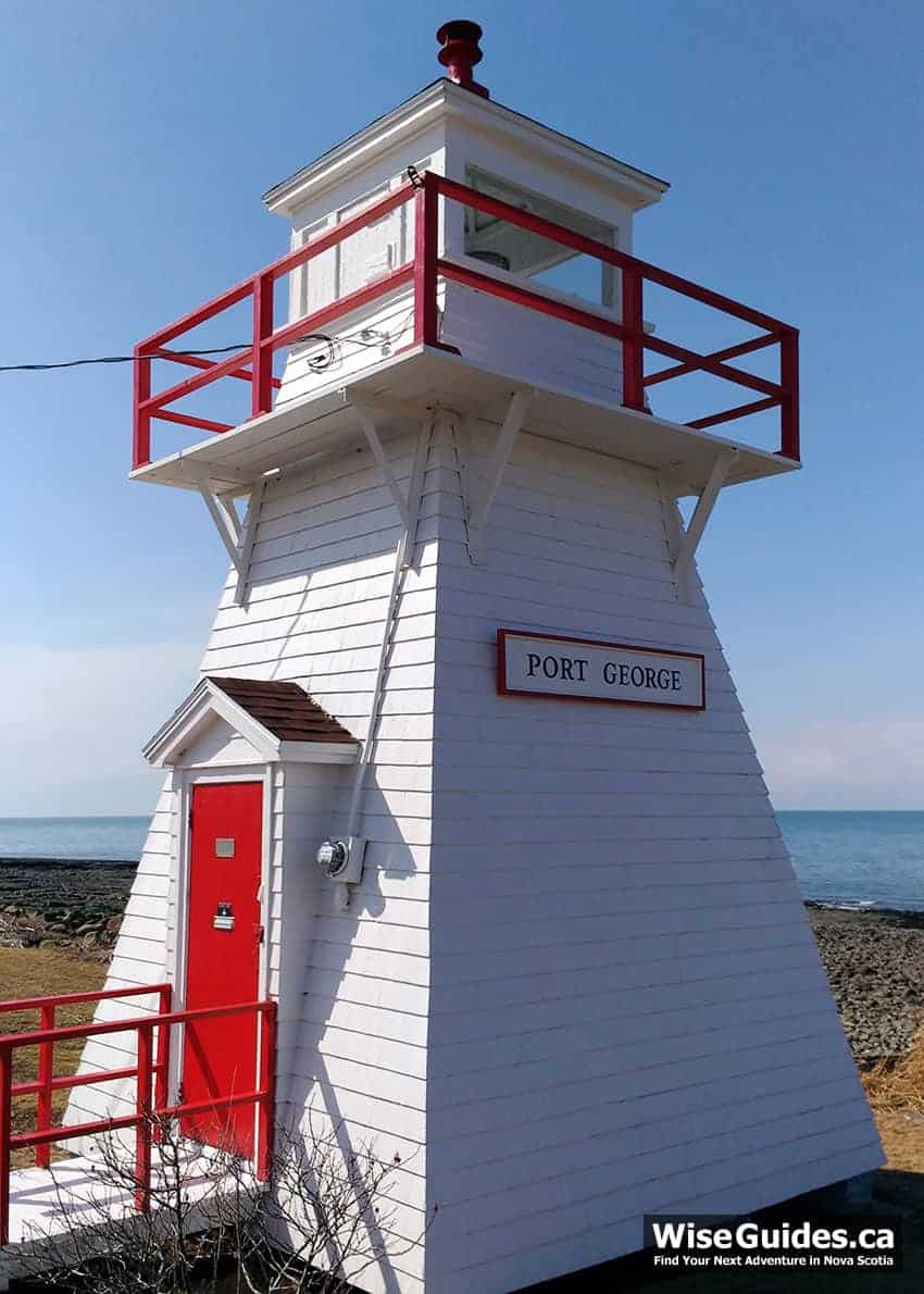 Getting to Port George Lighthouse Nova Scotia