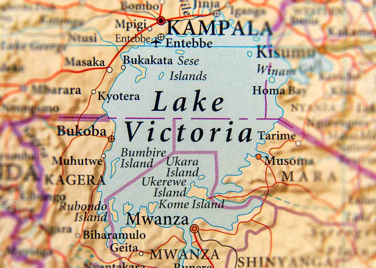 Lake Victoria Uganda map